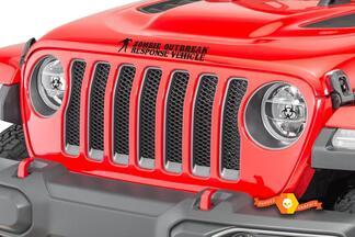 Jeep Rubicon Wrangler Zombie Ausbruch Ausbruch Team Wrangler Aufkleber # 15