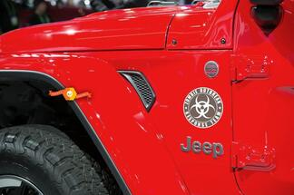 Jeep Rubicon Wrangler Zombie Ausbruch Ausbruch Team Wrangler Aufkleber # 11
