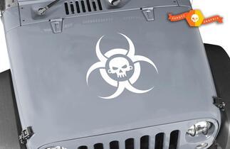 Jeep Rubicon Wrangler Zombie Ausbruch Reaktion Team Wrangler Schädel Aufkleber # 3