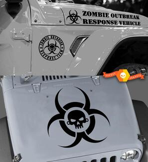 Jeep Rubicon Wrangler Zombie Outbreak Response Team Wrangler Decal FULL KIT