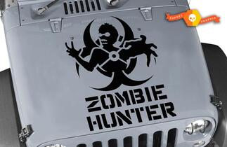 Jeep Rubicon Wrangler Zombie Hunter Aufkleber CJ YJ TJ JK Vinyl Aufkleber