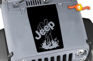 Jeep Zombie Hand wrangler hood CJ YJ TJ JK Vinyl Sticker Decal