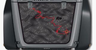 Jeep Wrangler Blackout SCHWARZE Karte Abenteuerreise Vinyl Hood Aufkleber TJ LJ JK Unlimited