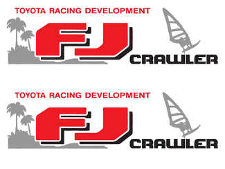 Pair TRD FJ CRUISER TOYOTA racing development side vinyl decal sticker#1