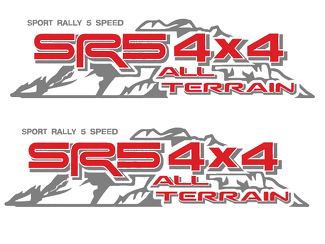 TOYOTA SR5 4X4 ALL TERRAIN DECAL Mountain  TRD racing development side vinyl decal sticker