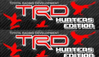 2 TOYOTA TRD HUNTER EDITION AUFKLEBER ALL TERRAIN DECAL Vinyl-Aufkleber für die Mountain TRD-Rennentwicklung