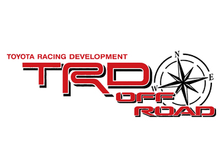 2 TOYOTA TRD OFF ROAD COMPASS ALL TERRAIN DECAL Mountain  TRD racing development side vinyl decal sticker