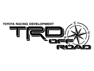 2 TOYOTA TRD OFF ROAD COMPASS ALL TERRAIN DECAL Mountain  TRD racing development side vinyl decal sticker 3