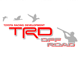 2 TOYOTA TRD OFF ROAD DUCK HUNTER DECAL Mountain  TRD racing development side vinyl decal sticker
