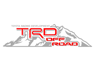 2 TOYOTA TRD OFF  Mountain  TRD racing development side vinyl decal sticker