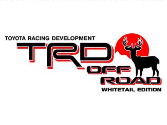 2 TOYOTA TRD OFF  Mountain DEER WHITETAIL EDITION TRD racing development side vinyl decal sticker 2