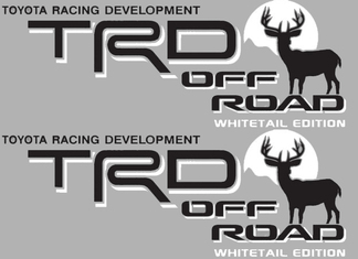 2 TOYOTA TRD OFF  Mountain DEER WHITETAIL EDITION TRD racing development side vinyl decal sticker 3