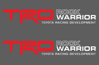 2 TOYOTA TRD OFF  ROCK WARRIOR DECAL TRD racing development side vinyl decal sticker