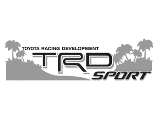 2 TOYOTA TRD OFF  SPORT BEACH DECAL TRD racing development side vinyl decal sticker 232