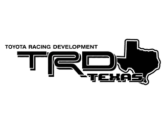 2 TOYOTA TRD TEXAS DECAL TRD racing development side vinyl decal sticker