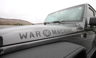 2 Jeep War Machine Wrangler Edition Vinylhaube Aufkleber TJ LJ JK Unlimited