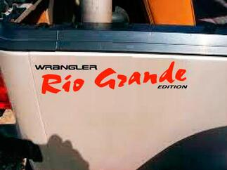 Jeep rio GRANDE wrangler side vinyl decal stickers any colors