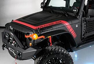 Jeep wrangler hood stripes side vinyl decal stickers any colors fo JK TJ JL YJ CJ Gladiator