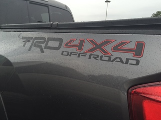 2 side Toyota TRD Truck Off Road 4x4 Toyota Racing Tacoma Decal Vinyl Sticker
