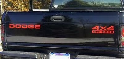 Dodge Ram Dakota Off Road Tailgate 2500 1500 decals stickers