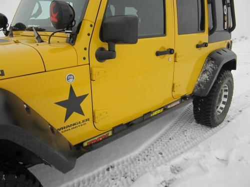 2 Wrangler Unlimited STAR Vinyl Sticker Decal
