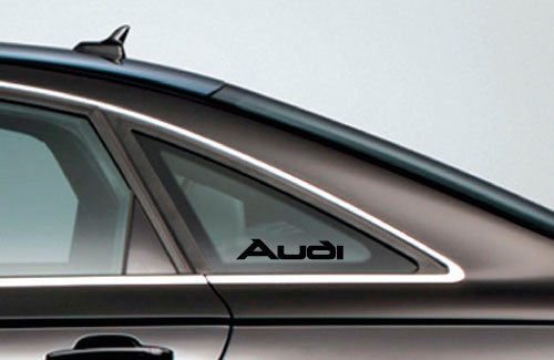 2 AUDI Logo Window Decal Sticker Emblem A4 A5 A6 A8 S4 S5 S8 Q5 Q7 TT Black