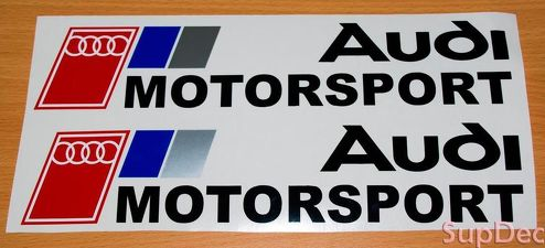 2 AUDI MOTORSPORT logo Stickers Decals A3 A4 A6 A8 S4 S5 Q5 Q7 S6 RS4 RS6 TT