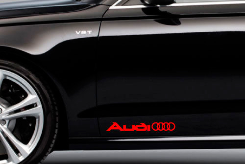 2 AUDI Rings Logo Side Trunk Decal Sticker A4 A5 A6 A8 S4 S5 S8 Q5 Q7 TT