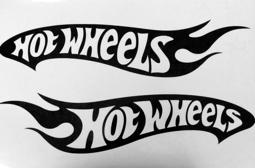 2 Hot Wheels Vinyl Decals 24