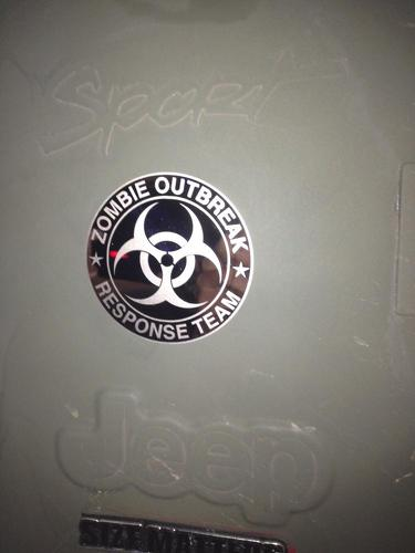 Jeep Rubicon Wrangler Zombie Outbreak Response Team Wrangler  Decal