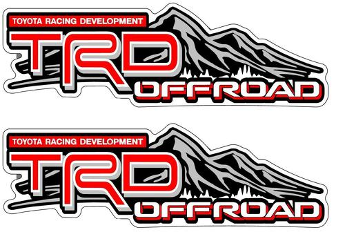 PAIR TRD OFFROAD VINYL STICKERS DECALS for TOYOTA REAR PANEL TUNDRA TACOMA