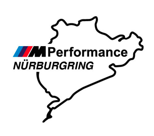 2 pcs Nurburgring M Performance Decals Sticker Vinyl BMW M3 M5 M
