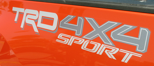 2 Side Toyota TRD Truck Off Road Sport 4x4 Toyota Racing Tacoma Decal Vinyl Sticker # 2