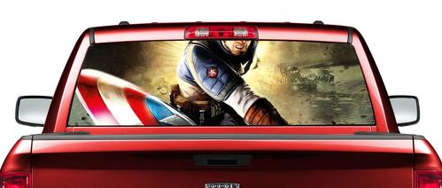 Captain America 2 movies Rear Window Decal Sticker Pick-up Truck SUV Car