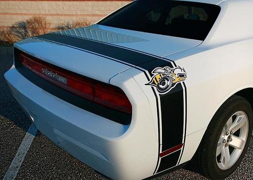 2008-2014 Dodge Challenger Super Bee Tail Stripe Decal kit trunk