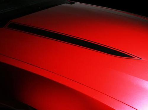 Ford Mustang Hood Spears Stripes Decals Pair Graphics