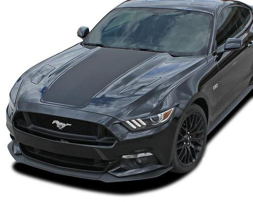 Ford Mustang MEGA Wide Center Hood Stripes Vinyl Graphic Decal