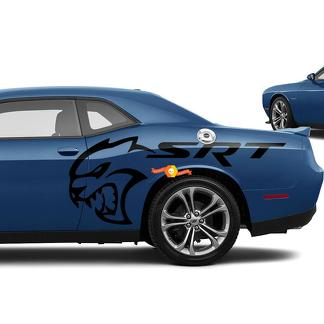SRT Hellcat decals for Dodge Challenger Side Vinyl Stickers