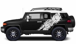 Vinyl-Decal-FJ-Side-Graphic-Wrap-Kit-for-Toyota-FJ-Cruiser-2007-2014-White-