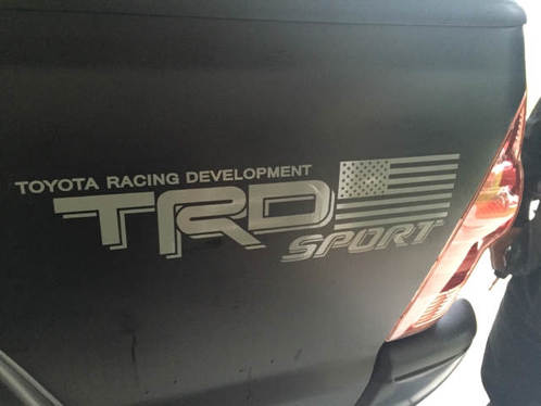 2 side Toyota TRD Truck USA FLAG SPORT 4x4 Toyota Racing Tacoma Decal Vinyl Sticker