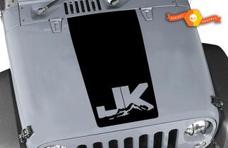 Jeep Hood Decal Wrangler Large Blackout Hood Vinyl Rubicon  JK