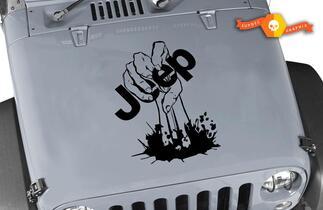 Jeep Aufkleber Jeep Wrangler Zombie Hand Vinyl Hood Aufkleber 15