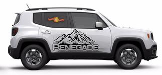 JEEP RENEGADE 2015 2016 VINYL SIDE DECALS 2PC SET LEFT & RIGHT