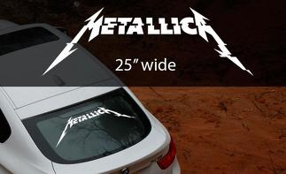 Metallica rock band thrash metal HardWired to self destruct window decal sticker