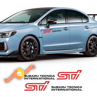 2X STI Subaru Tecnica International Dors Cover Vinyl Aufkleber Aufkleber