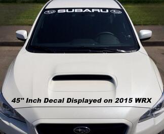 Subaru Windshield Sticker Banner Decal Vinyl Rally Window Graphic WRX custom STI