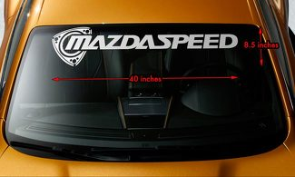 MAZDA ROTARY MAZDASPEED RX7 RX8 Windshield Banner Vinyl Decal Sticker 40