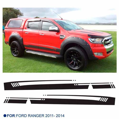 2 PC side stripe graphic Vinyl sticker for Ford Ranger 2014 new design ranger sticker