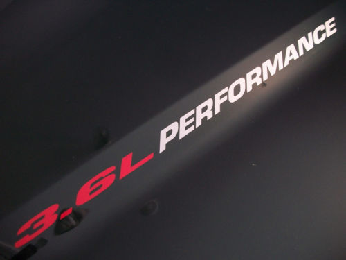 3.6L PERFORMANCE (pair) Hood fender decals