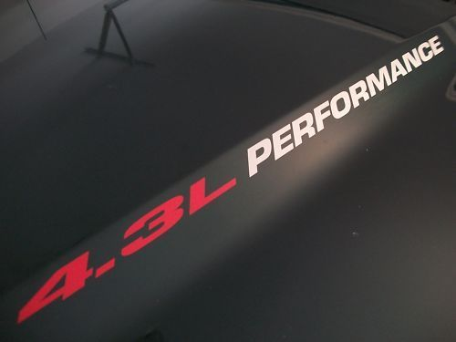 4.3L PERFORMANCE Hood decal Chevy S10 Silverado Vortec
